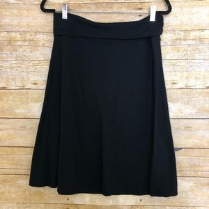 Old Navy Black Jersey Knit Stretch A-Line Skirt